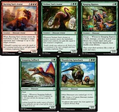 Dinosaur (Red Green) Deck - Burning Avatar - 60 Cards Magic The Gathering MTG NM