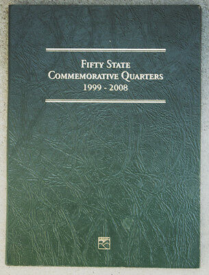 USA Fifty State Commemorative Quarters 1999-2008 in Littleton Coin Folder 50 pcs