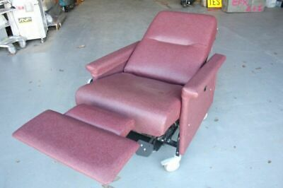 Champion 54 Patient Medical Transport Dialysis Recliner Chair - Cranberry