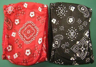 Red & Black Hanky 2 Belly Band  Maltese Chihuahua Italian Greyhound Dog Diapers