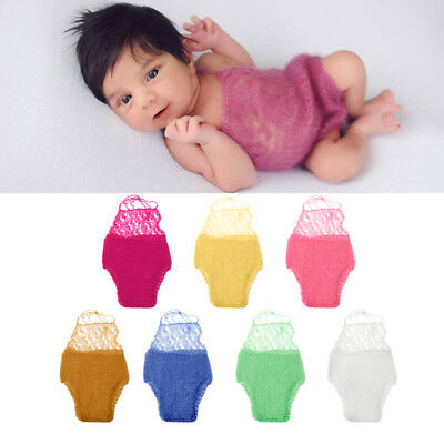 Soft Mohair Baby Crochet Romper Newborn Infant Photography Props Knitted Outfit
