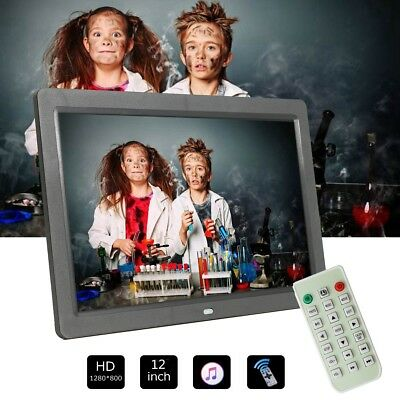 12Inch LED HD Electronic Digital Photo Frame Picture Photography Player MP4 AU