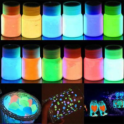 25g Glow in the Dark Acrylic Luminous Paint Bright Pigment DIY Party Decor Hot