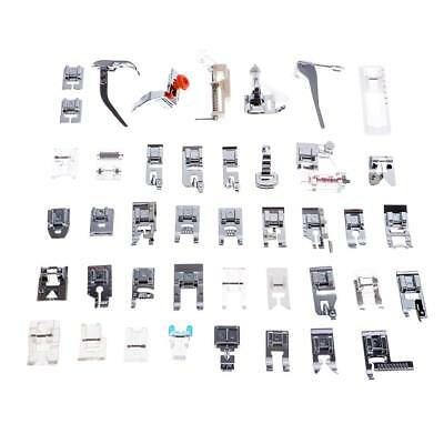 42 x Domestic Sewing Machine Foot Presser Feet Set for Singer Brother Janome