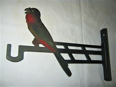 Antique Judd Architectural Audubon Bird Cage Cast Iron Wall Plant Hook Bracket