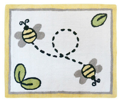 Baby Kid Floor Rug For Sweet Jojo Designs Yellow Honey Bee Girl Boy Bedding Set