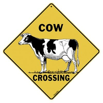 Cow Crossing Sign 12x12 NEW Metal Cattle