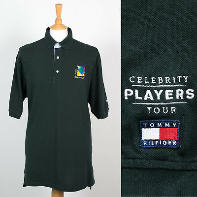 9be12649 Tommy Hilfiger Dark Green Polo T-Shirt Celebrity Players Tour Golf Charity L