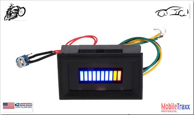 12V Unversal Motorcycle~Car LED Oil scale meter Gauge Indicator