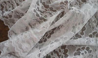 """Vintage Embroidered Net Lace Tablecloth White Alencon Style 72"""""""