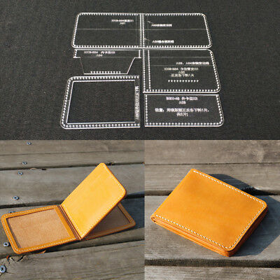 Leather Bifold Wallet Acrylic Template Leather Craft Pattern Stencil DIY