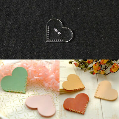 Leather Craft Heart Love Bookmarks Template Acrylic Leather Pattern Stencil