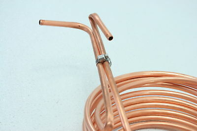 Homebrew Immersion Wort Chiller 25 foot Copper Tubing wine and beer coil only