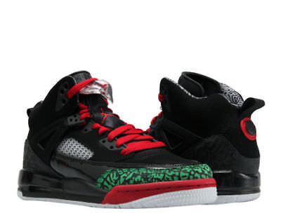 71dd7ae2dc69 Nike Air Jordan Spizike BG Black Red-Green Big Kids Basketball Shoes 317321-