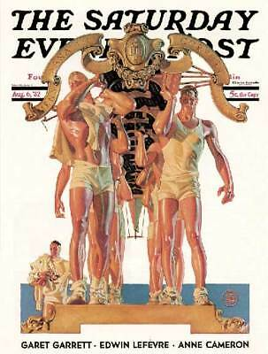 Saturday Eve Post Crew Rowing scull JC Leyendecker art poster print SKU1133