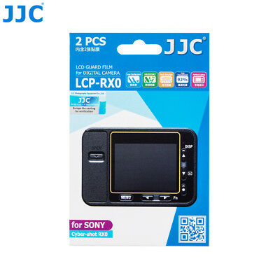 JJC 2 PCS LCD Guard Film Screen Hard Coating Protector for Sony Cyber shot RX0