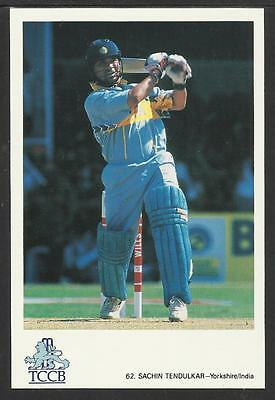 SACHIN TENDULKAR (YORKSHIRE & INDIA) OFFICIAL TCCB CRICKET POSTCARD No. 62
