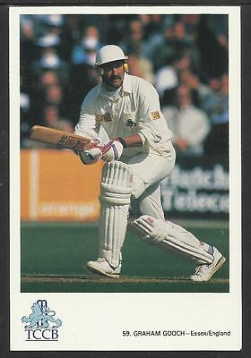 GRAHAM GOOCH -- ESSEX & ENGLAND. OFFICIAL TCCB  POSTCARD No. 59