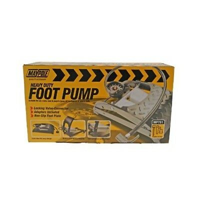 Footpump - Double Heavy Duty - Maypole Pump Foot Barrel Gauge Twin Mp791
