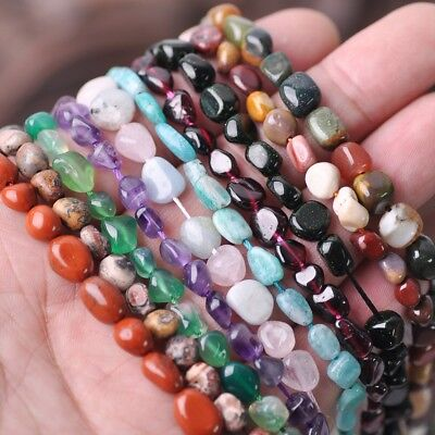 1 Strand 15''  Freeform Edge Polish Natural Stone Chips Beads Jewelry Making NEW