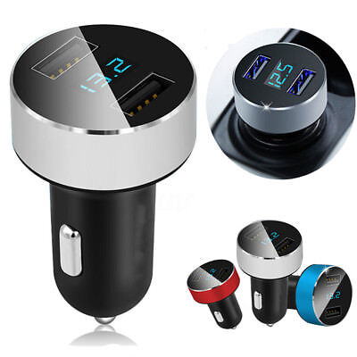Dual Ports 3.1A USB Car Cigarette Charger Lighter Digital LED Voltmeter WSW