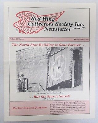 Red Wing Collectors Newsletter February March 1994 Chapter Report USA Pottery