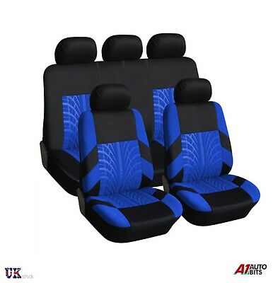 Heavy Duty Blue Black Light Full Set Waterproof Seat Covers For Isuzu D-Max 2012
