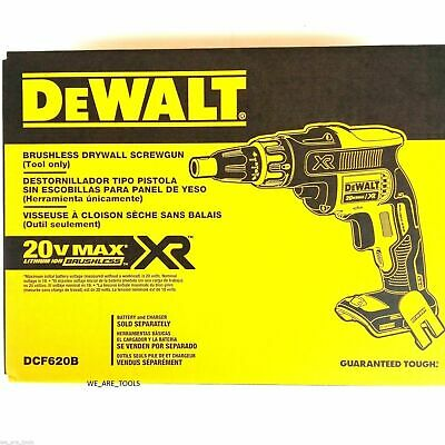 Dewalt DCF620B 20-volt MAX XR Li-Ion Brushless Drywall ScrewGun, Tool Only