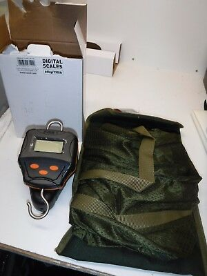 Fox Digital Scales 60kg/132lb  new 2018 free weigh sling