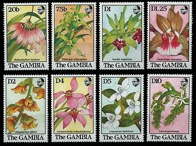 Gambia 1989 - Mi-Nr. 955-962 ** - MNH - Orchideen / Orchids
