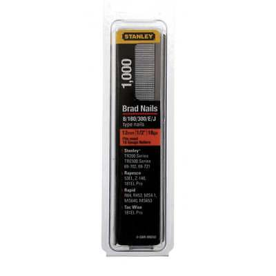 STANLEY 12mm Brad Nails (0-SWK-BN050) Pack Of 1000 Fits Most 18 Gauge Nailers