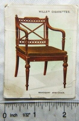 1924 Wills Old Furniture 2nd Series No. 23 Mahogany Arm-chair