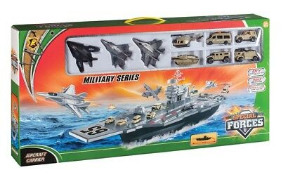 PLAYSETS  Aircraft Carrier Playset (Plastic w/Die Cast Access) (Daron)  PYS96243