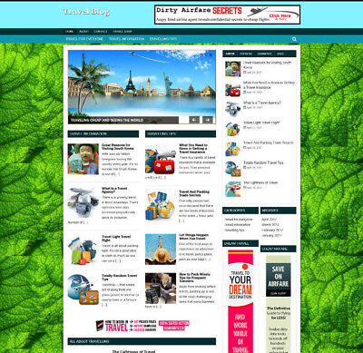 Travel Help Website & Uk Affiliate Store - Video Pages - Free Domain + Hosting