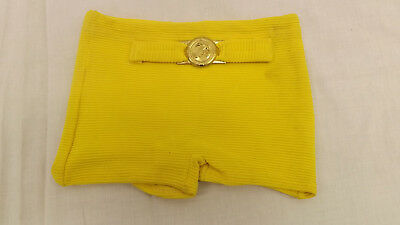 Vtg NOS Boys sz 6  Orlon/Rubber  Yellow Swimsuit Bathing Suit w/Anchor Buckle