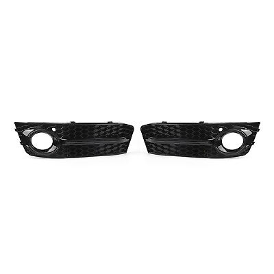 1Pair For AUDI A4 B8 4DR 2009-2012 Front Fog Light Grilles S Style Mesh Grille