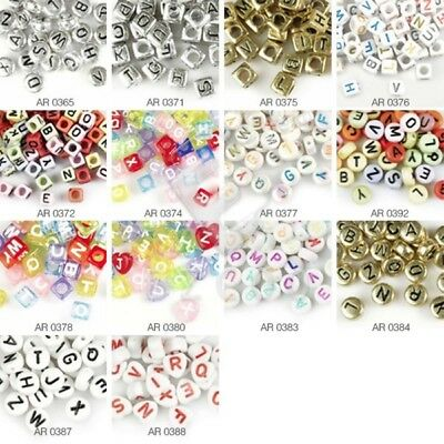 Mixed Alphabat Letter Acrylic Beads Spacer Loose Beads Jewellry Making Lots HC