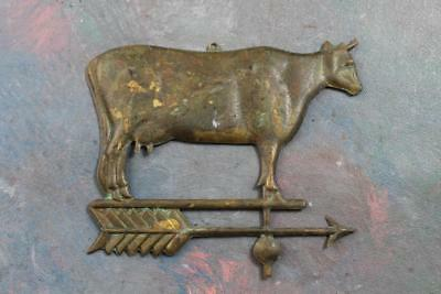 Old Collectible Cast Metal Cow Utterly Cool Small Version Weather Vane