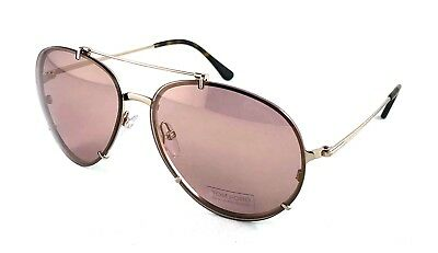 6ab5a2cecd7b6 TOM FORD Dickon TF527 TF 527 28Z Shiny Rose Gold Pink Gradient Sunglasses