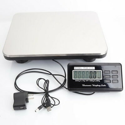 Digital Weight Scale 660LB Computing Food Meat Scale Produce Deli Industrial