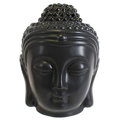 Black Buddha Head Oil Burner - Thai Spiritualcalming Buddhist Buddhism