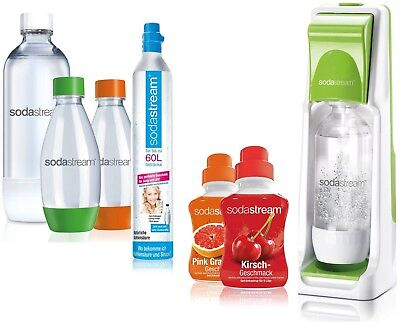 SodaStream Wassersprudler Set Cool Super Spar Pack Soda Stream Sparpack Grün