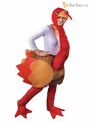 Adult Christmas Turkey Costume Chicken Funny Mens Thanksgiving Fancy Dress