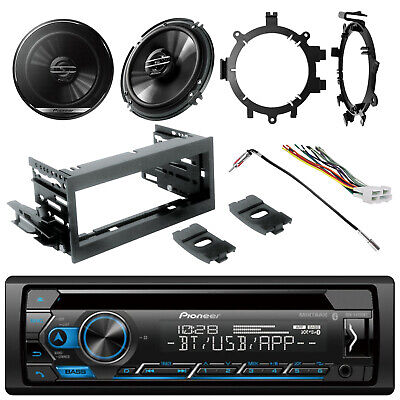 Pioneer DIN CD MIXTRAX Radio, Kit, Harness,2x 2-Way Speakers, Brackets, Adapter
