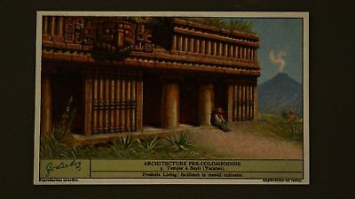 Advertising Liebig Card Pre-Colombian Architecture Sayil Temple