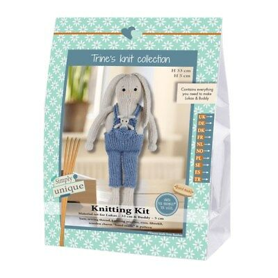 Go Handmade Knitting Kit | Lukas & Friend Rabbit Lukas & Buddy