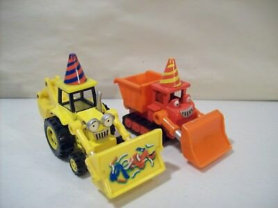 Lot Of 2 Bob The Builder Birthday Party Die-Cast Vehicles Scoop & Muck 2004