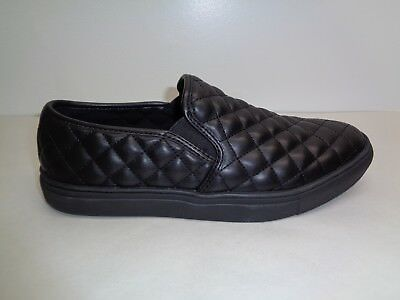 7829138c432 Steve Madden Size 8 M ELEMENT Black Slip On Loafers Sneakers New Mens Shoes