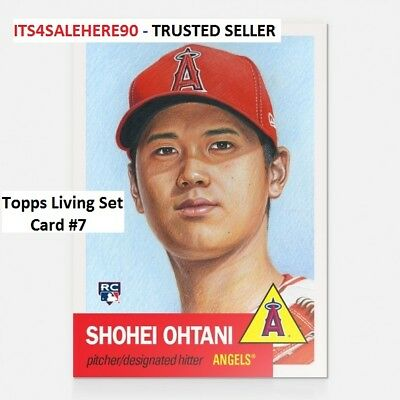2018 Topps Now Living (Card #7) SHOHEI OHTANI Angels ROOKIE RC (Limited Print)