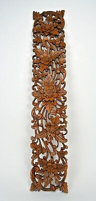 Finely carved Wooden panel Collected in Sukawati Village Serene Hindu Art